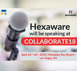 Hexaware will be speaking at COLLABORATE18