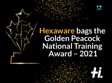 Hexaware wins the Golden Peacock National Training Award, 2021 in the IT sector