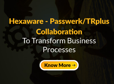 Passwerk/TRplus and Hexaware collaborate for outcome based Managed Business Process Services